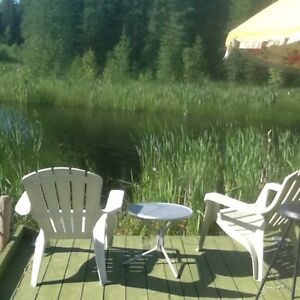 Complete privacy.Everything is provided.Creek,canoe to lake.