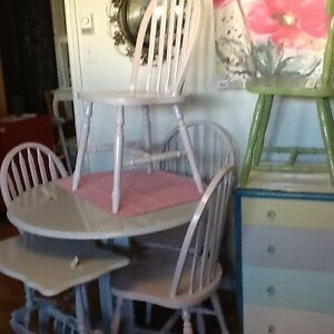 Blush & silver table and chairs