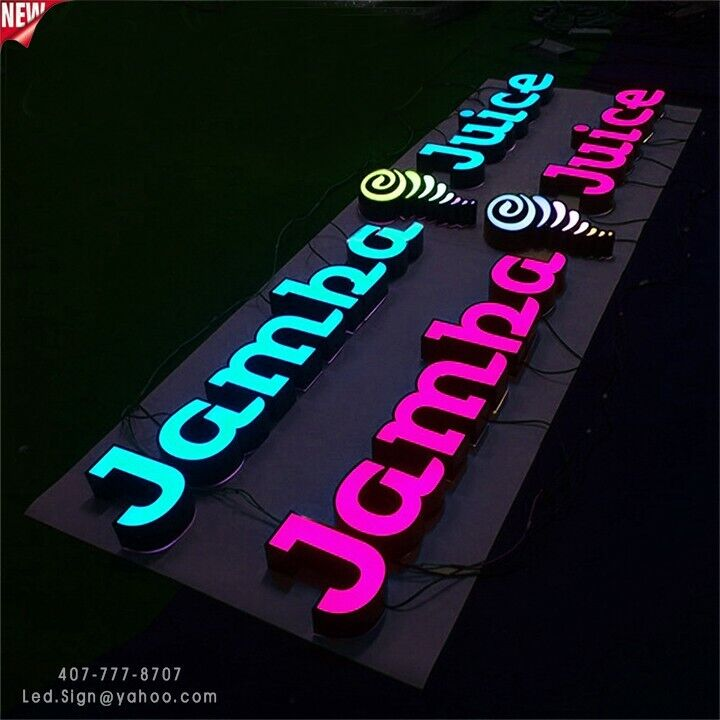 """New Led Channel Letter signs 24"""" - Custom made"""