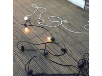 Old fashion garland of outdoor lights