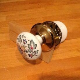 Gainsborough porcelain door handle sets