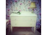 Pretty little shabby chic chest of drawers