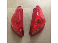 Ford Fiesta 2011 pair of rear lights