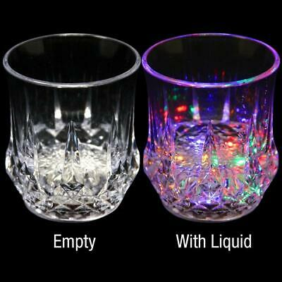 Liquid Activated Led Multicolor Light Up Fun Glasses Drinking Old Fashioned Glas