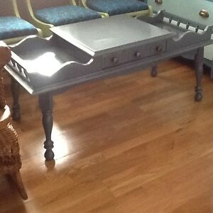 Country blue coffee table