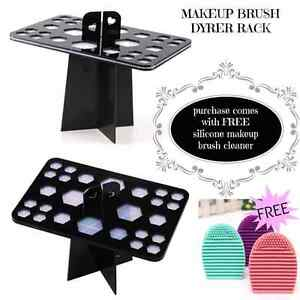 Makeup Brush Dryer Rack with FREE silicone makeup brush cleaner