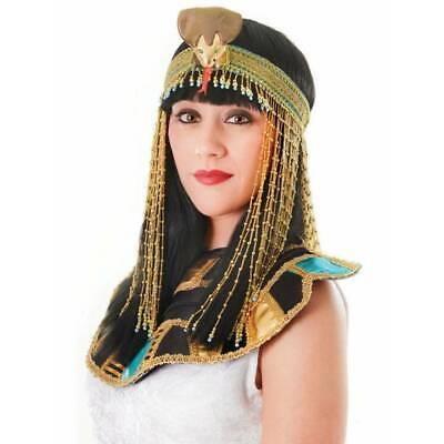 Egyptian Costume Accessories (Egyptian Belt ,Collar, Headpiece Ladies Fancy Dress Costume)