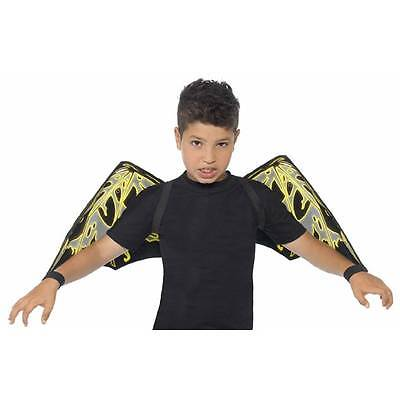 Fledermaus Kostüme Jungen (Kinder Leuchten Im Dunklen Fledermausflügel Ärmel Jungen Mädchen)