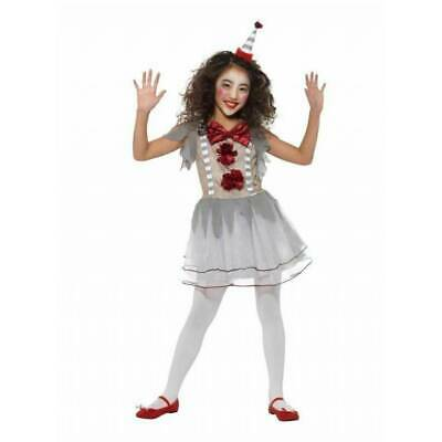 Girls Vintage Scary Clown IT Pennywise Halloween Fancy Dress Kids Costume