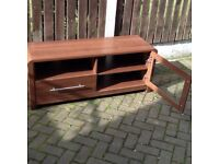 """TVcabinet in brown mahogany. Depth 16"""" Height 21"""" Width 52""""Suitable for screen size up to 45"""""""