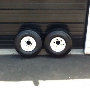 Two trailer tires and rims