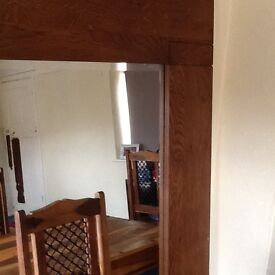 very Large 6ft shesham wood, mango wood mirror very very heavy