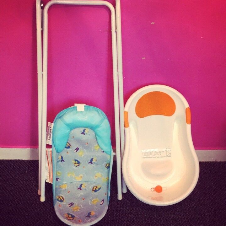 Baby bath & stand & seat