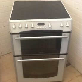 Electric cooker double oven ceramic top -(60 cm - wide) can deliver local