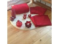 Red home accessories - 12 items