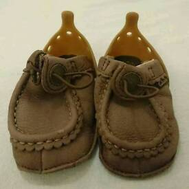 Kids Clarks My First Shoes (Pram) Age 3-6 Months In Box.