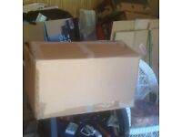 Large packing boxes.
