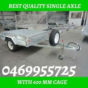 8×5 Single axle trailers with best price