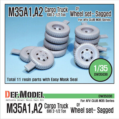 DEF Model 1/35 US M35A1/A2 Cargo Truck GY Sagged Wheels for AFV Club 35004/35034 for sale  Shipping to United States