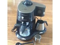 MORPHY RICHARDS MR CAPPUCCINO COFFE MAKER, HARDLY USED, MAKES DIFFERENT COFFEES, WITH HOTPLATE