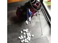 Full set of golf clubs plus accessories