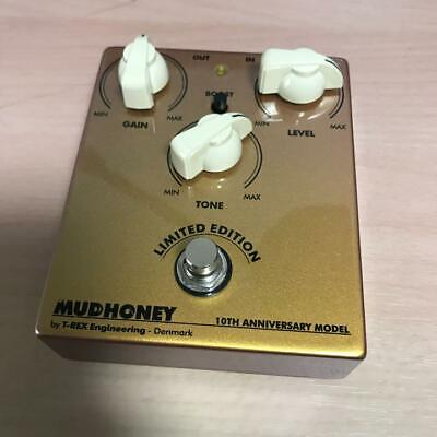 Very Rare! T-REX Mudhoney 10th Anniversary Limited Gold Guitar Effect Pedal