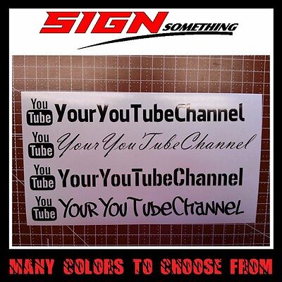 Your User Name You Tube Decal   Sticker  Custom Youtube