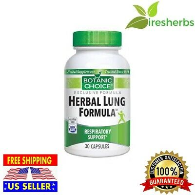 HERBAL LUNG FORMULA SUPPORT HEALTHY LUNGS RESPIRATORY HEALTH SUPPLEMENT 30 CAPS