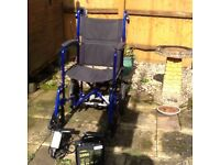 Wheelchair with battery powerpack