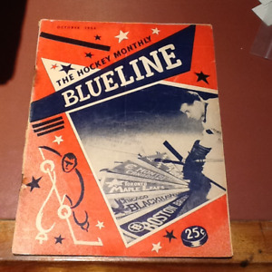 "October 1954 ""The Hockey Blueline"" Magazine"