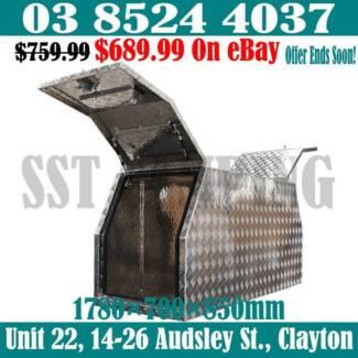 2mm Plus Checker Aluminium Canopy 1780x700x850 Gullwing Toolbox