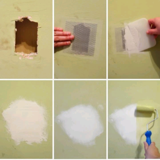 plaster hole patching / wall repair