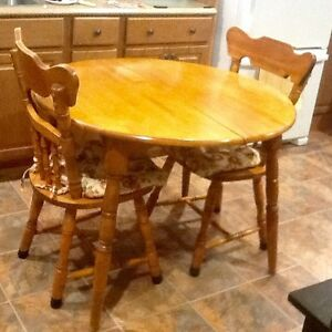 Price REDUCED on Solid Maple kitchen table & 4 chairs!! St. John's Newfoundland image 1