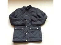 Mens black quilted jacket size XS