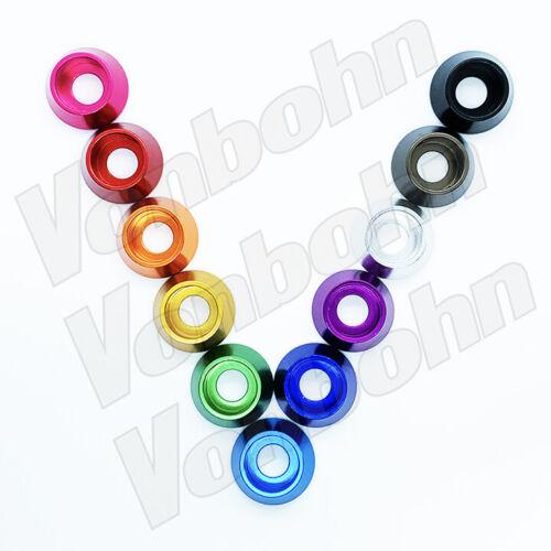 Vonbohn Metric M2 thru M9 Anodized Aluminum Socket Head Washers 11 KOOL KOLORS
