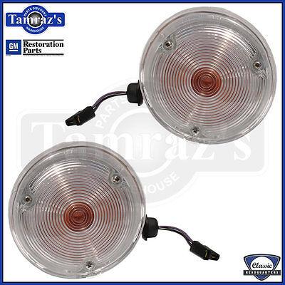 69 Camaro Front Marker Parking Turn Light Lamp Lens Housing Asm GM Lic. Resto PR