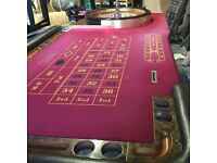 Ex Casino Roulette Table with John Huxley Roulette Wheel.
