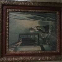 Print of Veermeer Painting Women with Letter w/ beautiful frame