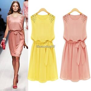 New-Evening-Summer-Women-chiffon-Long-chiffon-Maxi-Dress-M-L-XL-Size-Elegant