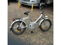 Folding electric bike