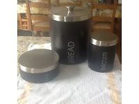 Bread Bin, Cake Tin and Biscuit Barrel