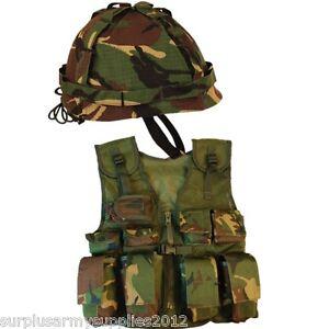 BOYS ARMY SOLDIER FANCY DRESS COSTUME KIDS COMBAT ASSAULT VEST + HELMET DRESS UP