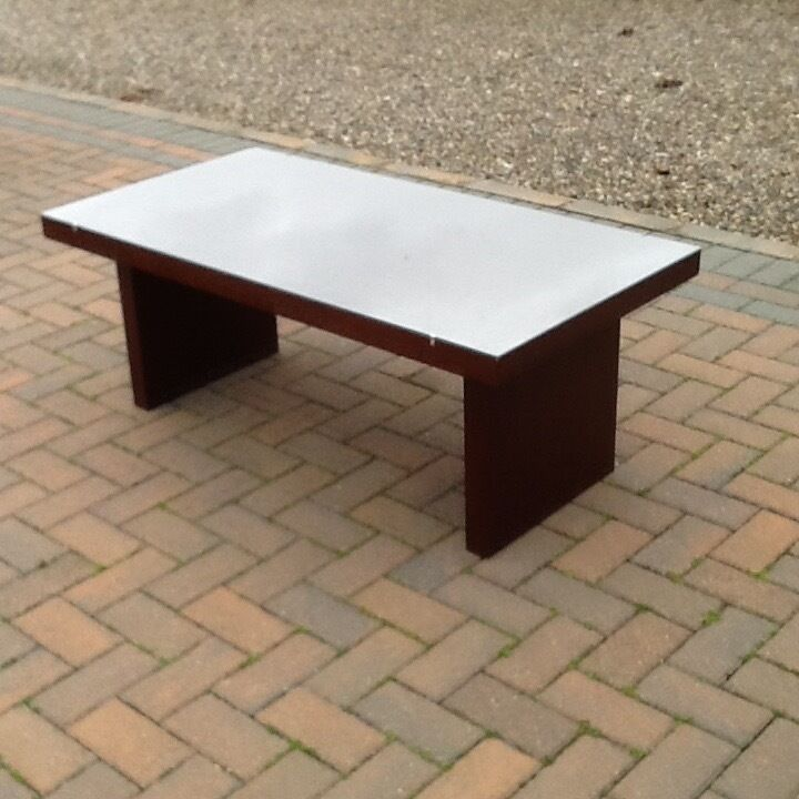 Dark Wood Coffee Table Bought From Buicks Montrose