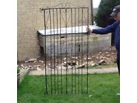 6' x 3' wrought iron gate with fittings.
