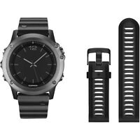 GARMIN FENIX 3 SAPPHIRE GPS WATCH - Stainless and Rubber band