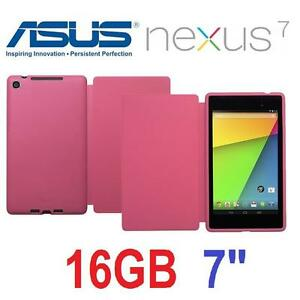 "NEW ASUS NEXUS 7 TABLET W/ COVER 16GB - 7"" - W/ OFFICIAL ASUS PINK COVER - HD GOOGLE ANDROID 2013 92675601"