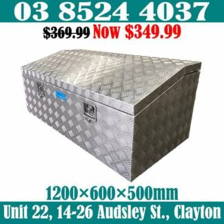 2.5mm Checker Plate Aluminium Top Opening Toolbox 1200x600x500