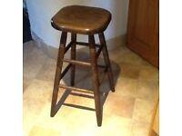 Dark wood Bar/ Kitchen stool