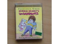 Horrid Henry's underpants - audio book on cassette