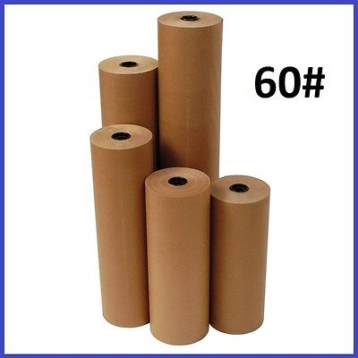 60 Wt Kraft Brown 600 Roll Shipping Wrapping Void Fill Paper - 10 Sizes Avail.